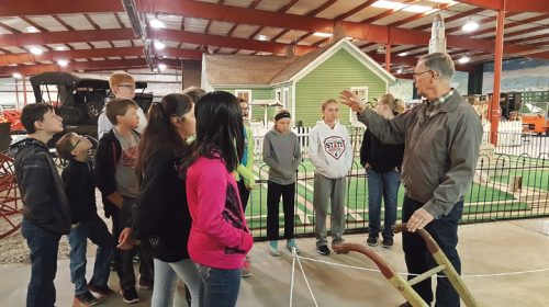 Visitors learn Hamilton County history at the Plainsman Museum in Aurora.